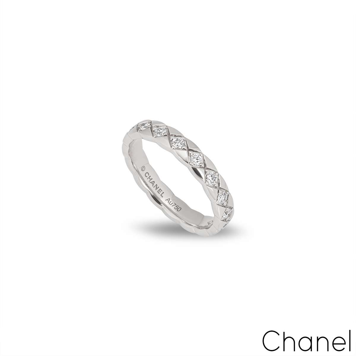 Chanel White Gold Coco Crush Ring J11871
